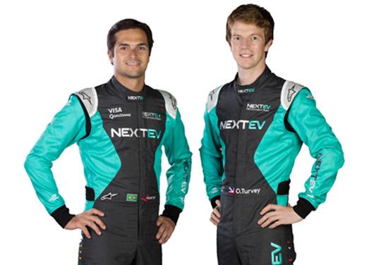 新赛季两位车手尼尔森-皮盖特和奥利弗-特维