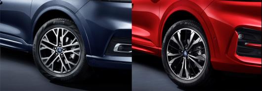 左:2.0T四驱嘉享款轮毂,右:2.0T四驱纵享款ST-LINE轮毂