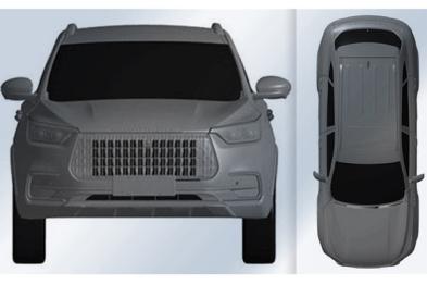 长城华冠全新SUV专利图曝光