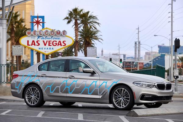 由BMW、Mobileye、Intel合作开发的自动驾驶原型车