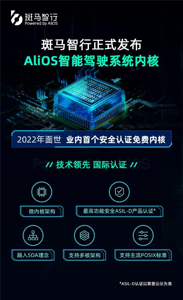 斑马智行发布AliOS智能驾驶系统内核,免费向车企开放