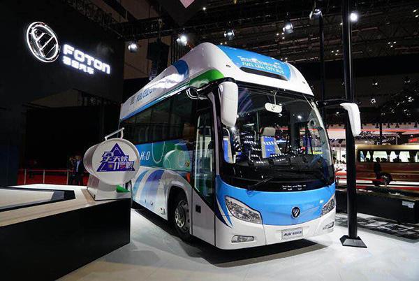 福田8.5米氢燃料电池团体客车
