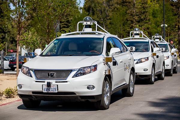 谷歌自动驾驶汽车测试车队