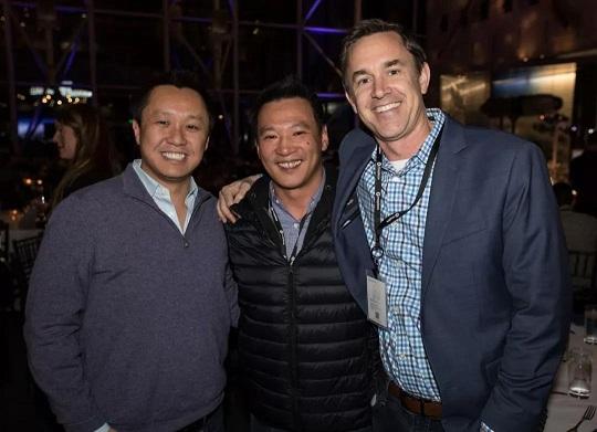 从左至右依次为Roy Ng (Mapbox总裁兼COO)、Andy Lee、John Bonney (Mapbox CFO)