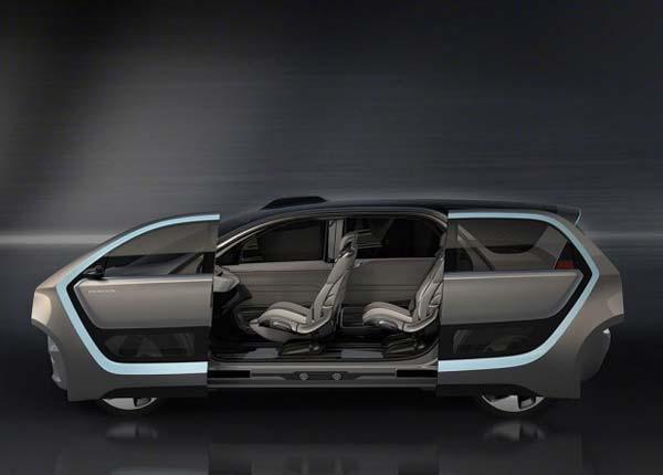 配置方面,克莱斯勒Portal利用计算机和精密的车身传感系统,能够达到SAE 3级自动驾驶模式。这套传感器系统都包括摄像机、雷达、激光雷达和超声波技术,从图中也可以看出,这些传感器分布在车身的周围。新车内部使用了全液晶的中控屏幕和仪表,其中全液晶的中控屏幕还集合了社区显示屏的共享功能,可以通过屏幕与家人进行视频通话、分享照片等等。此外,新车将采用三排座椅设计。
