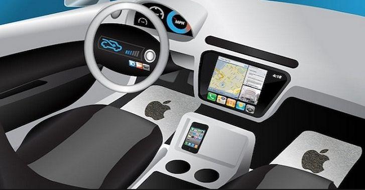 苹果无人驾驶汽车渲染图