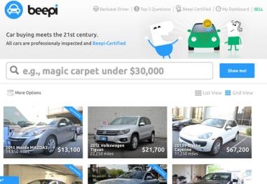 创业新方向:二手车P2P售卖平台Beepi,融资6000万美元