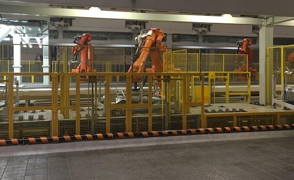 冲压车间自动装箱机器人