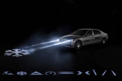 奔驰即将量产的智能大灯技术,可以和驾驶辅助系统联动了
