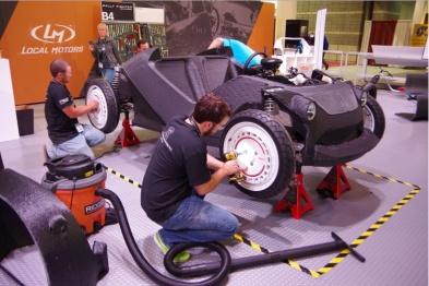 只要3D打印机和一台机床便可制造汽车