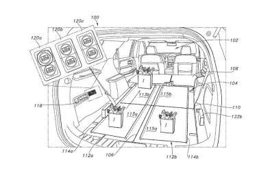 福特又申请新专利:车内安装传送带