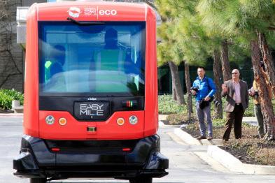 EasyMile自动驾驶巴士正在加州进行路测