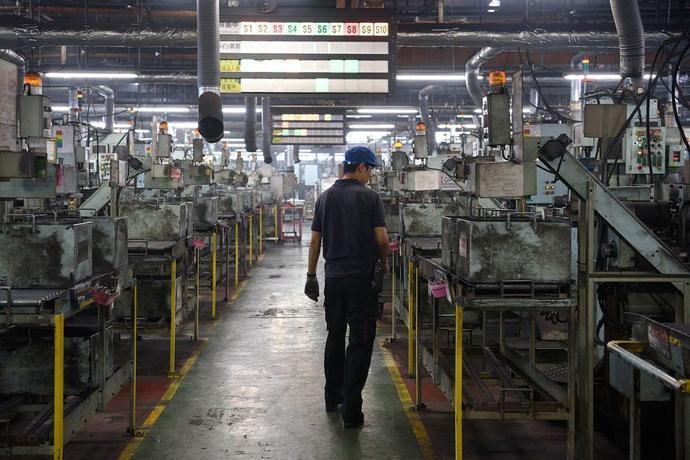 Asahi Tekko碧南市工厂的内部