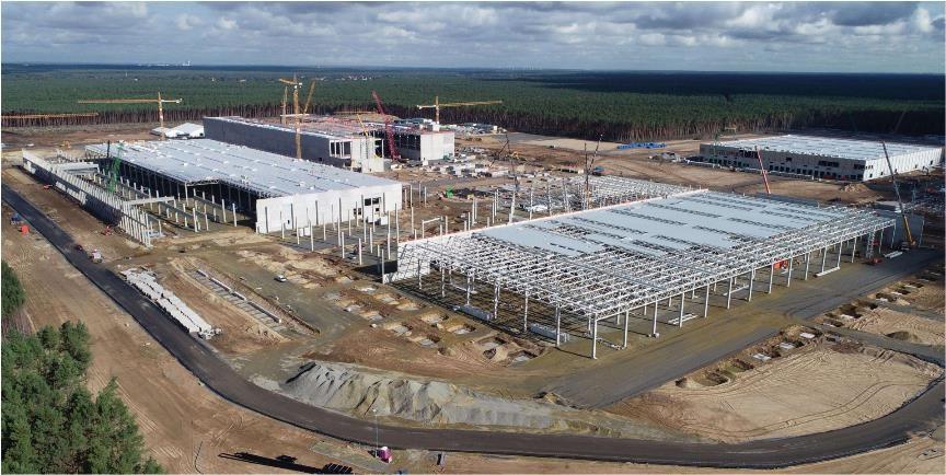 柏林超级工厂——Model Y工厂建设