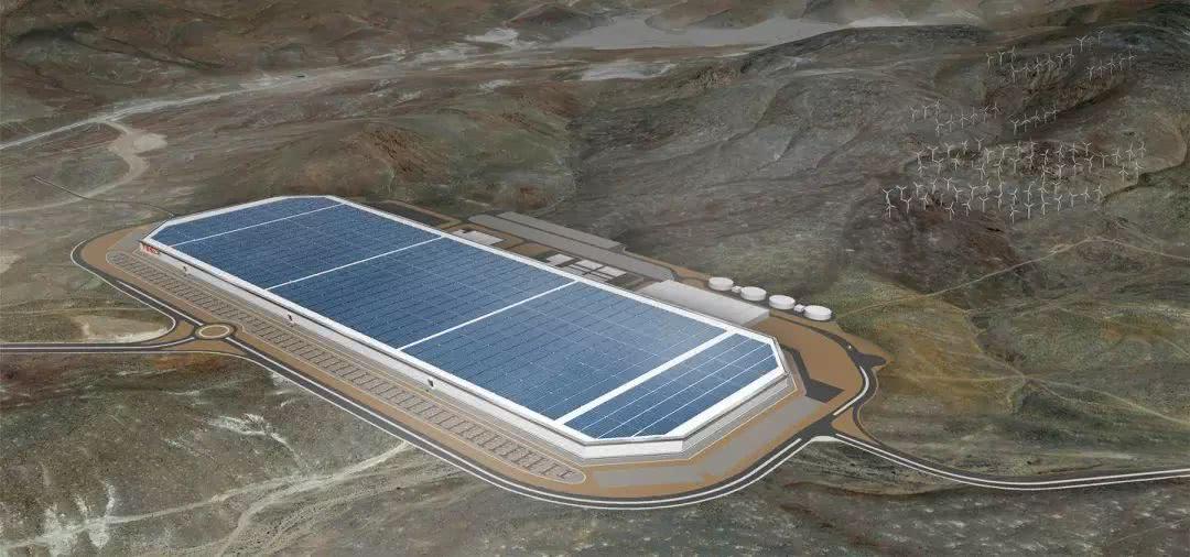 位于内华达州的电池工厂 Gigafactory 设计图
