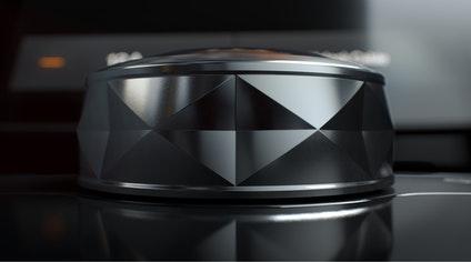 菱形切割状的按钮设计
