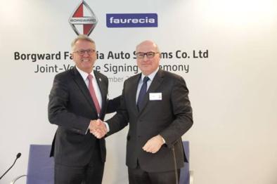 宝沃汽车集团与佛吉亚签约建立合资公司,包括全新工厂与技术中心