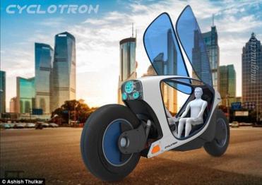 介于摩托车和汽车之间,这个设计师的脑洞要多大有多大