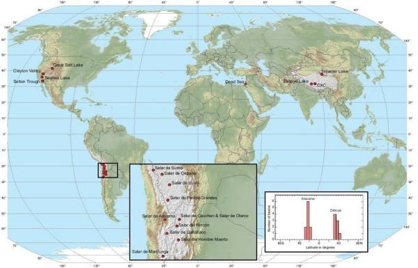 全球富锂盐湖分布图。数据来源:美国地质调查局