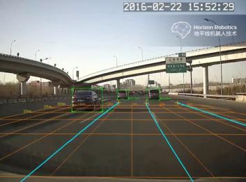 昨天在奇点汽车发布会上抢镜的,就是地平线的这个ADAS视频