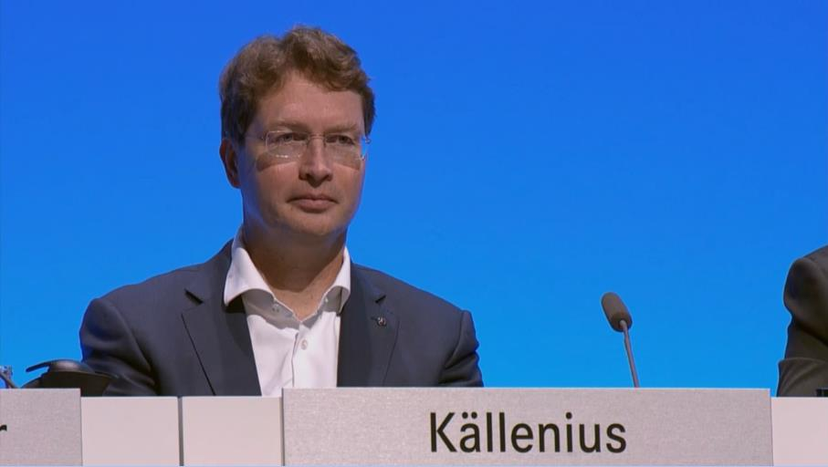 戴姆勒新任董事会主席、梅赛德斯-奔驰汽车集团全球总裁康林松(Ola Källenius)