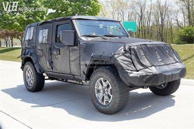 铝制材料打造 2018款Jeep牧马人谍照曝光