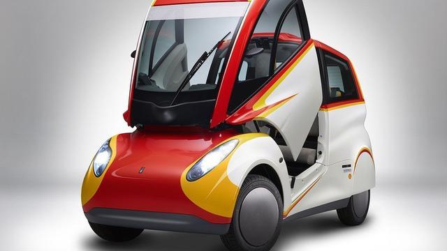 壳牌推高效率城市概念车,车门像喷气式战斗机