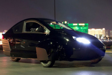 "Elio Motors展出新款超低燃耗汽车""E1C"""