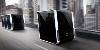 "Next Future组合式智能交通方案:乘客可一键""召唤""豆荚车"