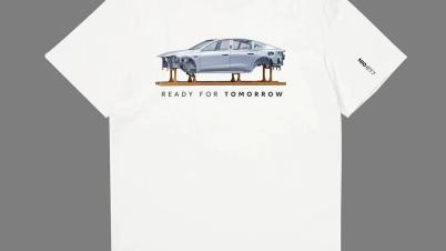 神操作,ET7首台生产线车身照片被做成纪念T恤,还卖断货了