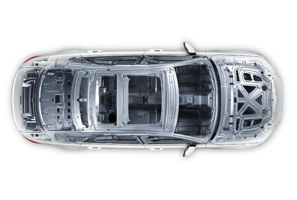 捷豹XFL的全铝车身架构