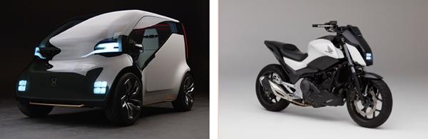 左:Honda NeuV,右:Honda Riding Assist