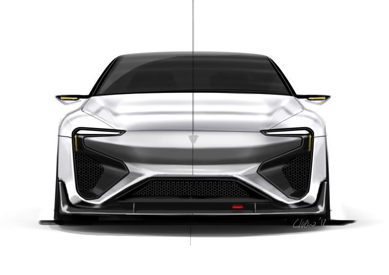 爱驰汽车RG纯电动跑车设计草图