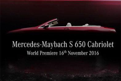 迈巴赫S650敞篷版洛杉矶车展发布,限量300台
