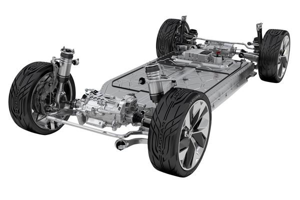 捷豹I-PACE纯电动概念车底盘系统架构