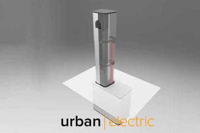 UEone可伸缩式充电桩推出,可隐藏在地下
