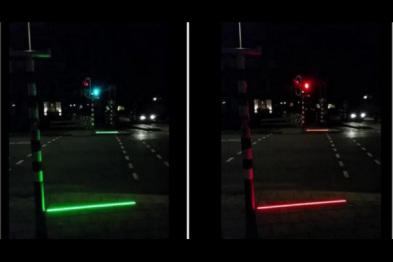 """荷兰开始测试专为""""低头族""""设计的红绿灯"""