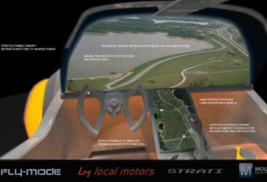 洛克汽车发布全新3D打印自动驾驶概念车