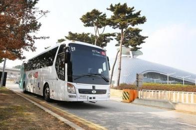 韩国电信运营商KT在机场成功测试自动驾驶巴士