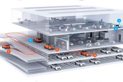 在奥迪「未来城市」实验里,一个停车场如何多存60%的车辆?