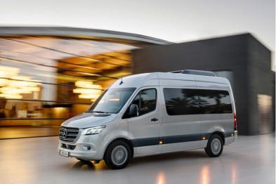 梅赛德斯公布全新智能电动商务车Sprinter