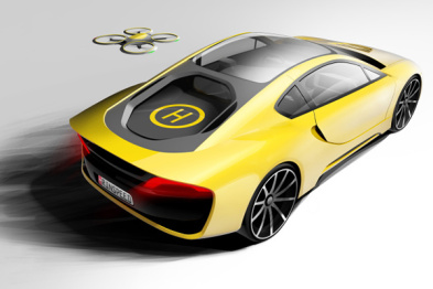 "Rinspeed设计的这辆概念车,第一次绑定了无人机""小跟班"""