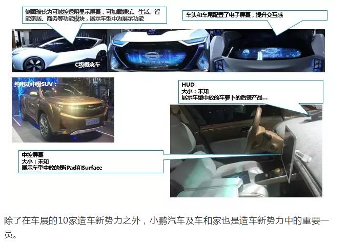C级概念车及纯电动中级SUV车联网和Infotainment功能简述