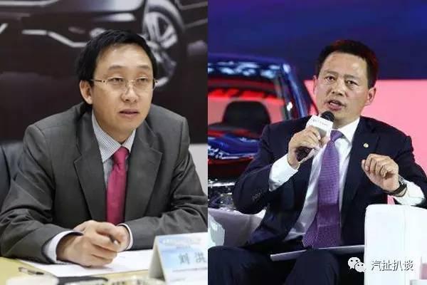 刘洪(左)即将接替李春荣(右)掌管东风风神