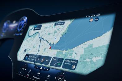 """奔驰MBUX Hyperscreen系统发布,EQS有""""超屏"""""""