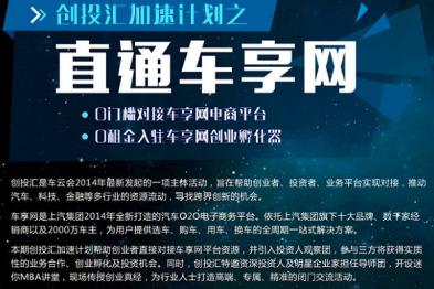 """#招募中#车云会Topic9:创投汇加速计划之""""直通车享网"""""""