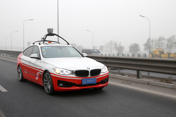百度无人驾驶测试车使用了Velodyne的64线激光雷达