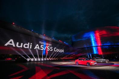直击奥迪A5/S5 Coupe全球首秀:设计、平台、科技均有新信号