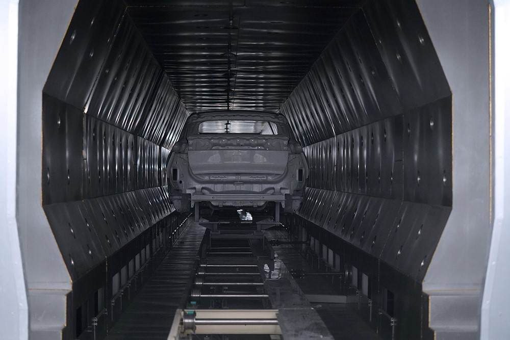 海马小鹏智能工厂涂装车间-喷涂线闪干炉