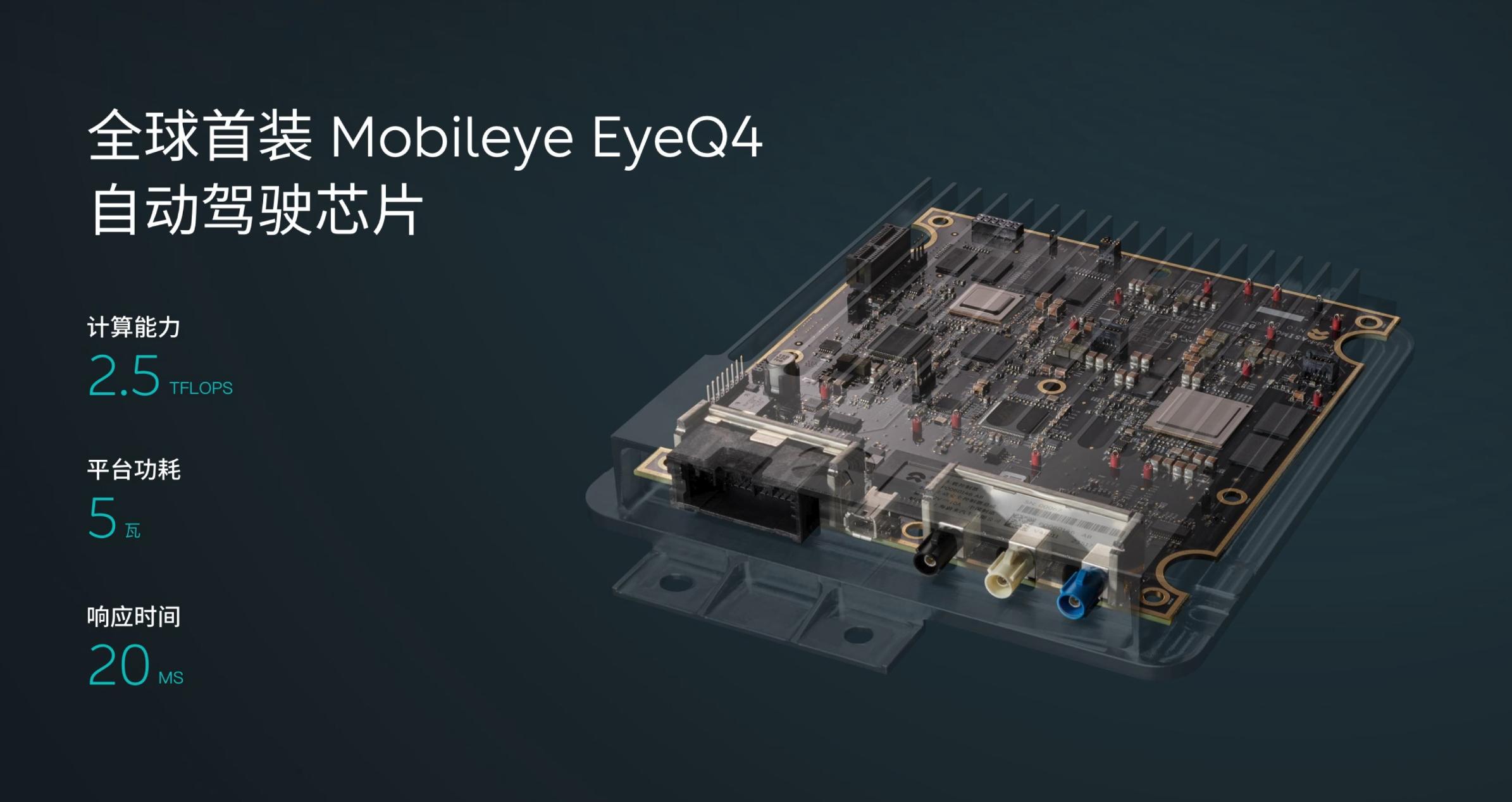 蔚来ES8全球首装Mobileye EyeQ4